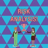 Conceptual Hand Writing Showing Risk Analysis. Business Photo Text Review Of The Risks Associated Wi poster