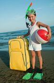 Travel, summer holiday - travel destination, beach resort poster