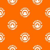 Mountain Best Camping Pattern Vector Orange For Any Web Design Best poster