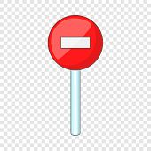 No Entry Traffic Sign Icon. Cartoon Illustration Of No Entry Traffic Sign Vector Icon For Web poster