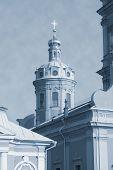 Church At Petropavlovskaya Fortress - Monochrome
