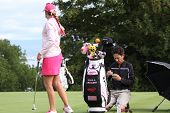 Paula Creamer (USA) at Evian Masters golf cup 2011