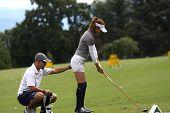 Kumiko Kaneda (JPN) at Evian Masters golf cup 2011