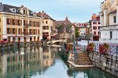 stock photo of annecy  - Morning view of Annecy and Palais de l - JPG