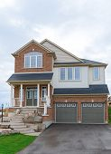 image of subdivision  - New two storey house in Canada - JPG