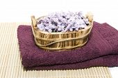 Scented Soap Flowers On Towels