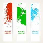 Abstract vertical handdrawing banner set