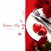 hearts on a plate. Love, harmony and Valentine's day concept (with sample text)