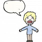 cartoon complaining boy