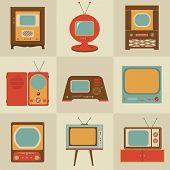 Постер, плакат: Ретро Винтаж телевизор