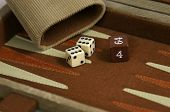 Backgammon Die And Cup