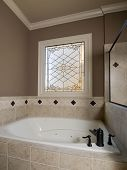 Luxury Jacuzzi And Stained-Glass Window poster