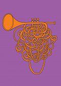 Orange abstract trumpet