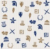 image of sparta  - Greek seamless pattern with different beautiful icons - JPG