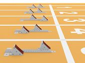 Starting Blocks In Track And Field. 3D Model