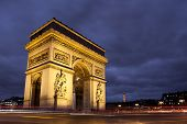 picture of charles de gaulle  - Arc de triomphe Charles de Gaulle square Paris France - JPG