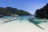Playa tropical, El Nido, Palawan, Filipinas