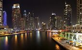DUBAI, UAE - OCTOBER 23: View of the region of Dubai - Dubai Marina is an artificial canal city, carved along a two mile (3 km) stretch of Persian Gulf shoreline on october 23, 2012 in Dubai, UAE