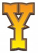 Western Alphabet Letter - Y