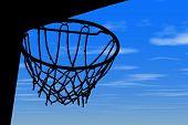 Basket Silhouette Blue Sky