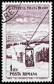 Postage stamp Romania 1964 Ski Lift, Polana Brasov
