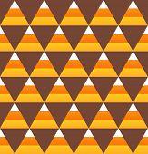 Halloween candy corn seamless pattern