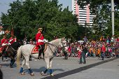 KUALA LUMPUR - AUGUST 31: Troopers and horses from the calvary unit of the Armor Regiment take part