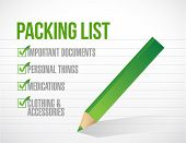 Package List Check Mark List Illustration Design