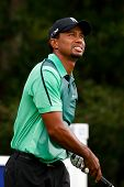 NORTON, MA-SEP 1: Tiger Woods watches his tee shot off the fourth hole during the third round at the