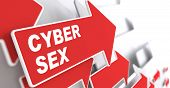 stock photo of porno  - Cyber Sex Concept - JPG