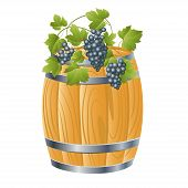Wooden Barrel Of wine