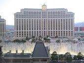 Bellagio hotel & casino fountains in Las Vegas