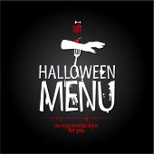Halloween Menu Card Design template.