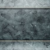 Metal grunge plates (industrial construction template)