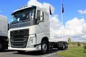 White New Volvo Fh Truck