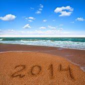 2014 on the sea beach