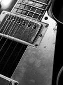 Macro Electric Guitar Strings And Pickups