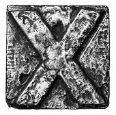 stock photo of letter x  - Metal alloy alphabet letter X - JPG