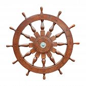 Steering Wheel Of Sailing Boat Cutout