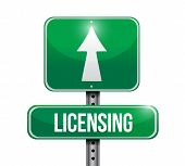 Licensing Road Sign Illustration Design