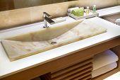 Modern Marble Handbasin In A Hotel