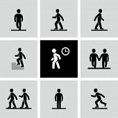 image of pedestrians  - People walking - JPG