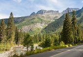 Driving Through Glacier National Park