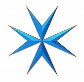 stock photo of maltese-cross  - Maltese Cross Isolated on White 3D Render - JPG