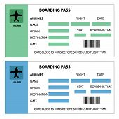 foto of boarding pass  - Illustration of two boarding passes on white background - JPG