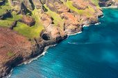 picture of na  - Beautiful view on Na Pali Cost on Kauai island on Hawaii - JPG