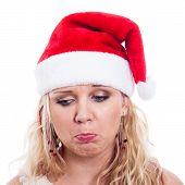 Sad Christmas Woman Face