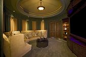 stock photo of semi-circle  - Home Cinema Room - JPG