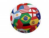 stock photo of flags world  - Soccer ball  - JPG