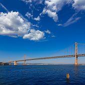 Bay Bridge in San Francisco to Oakland California USA
